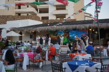 """The """"Mexican Fiesta"""" mariachi night at our resort."""